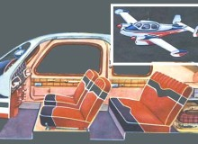 """Чешский самолет-""""такси"""" МОРАВА: вид внутри и общий вид"""