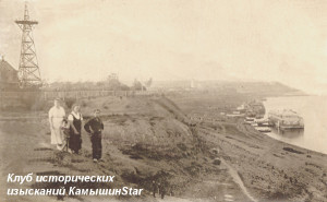Камышин. 1936 год. Парашютная вышка на бульваре. Фото из архива А. Д. Арзумановой