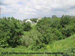 Родник у поворота на село Дворянское (вид сверху на балку). Камышинский район